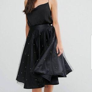 Boohoo Satin Full Skirt